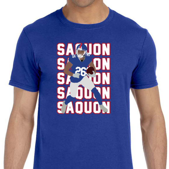 reputable site 21c2a a340c New York Giants Saquon Barkley Shirt